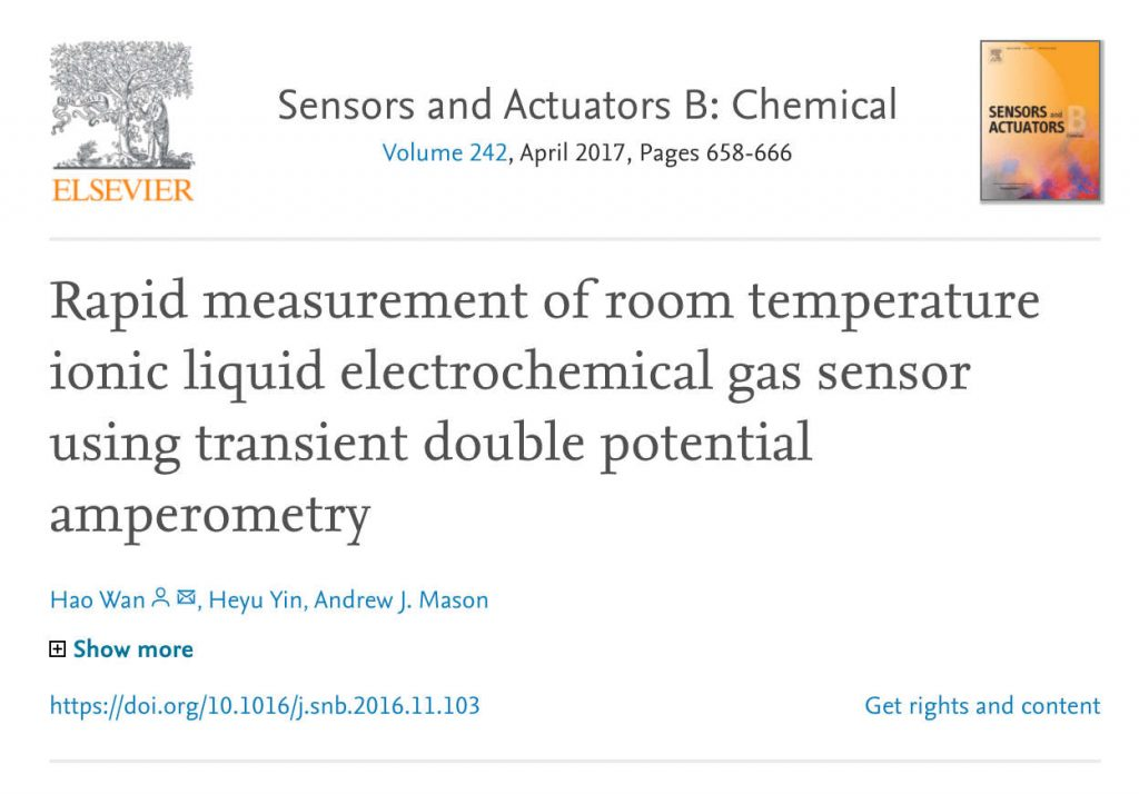 Elsevier 2017 - Scientific Paper - Gas Sensor Calibration